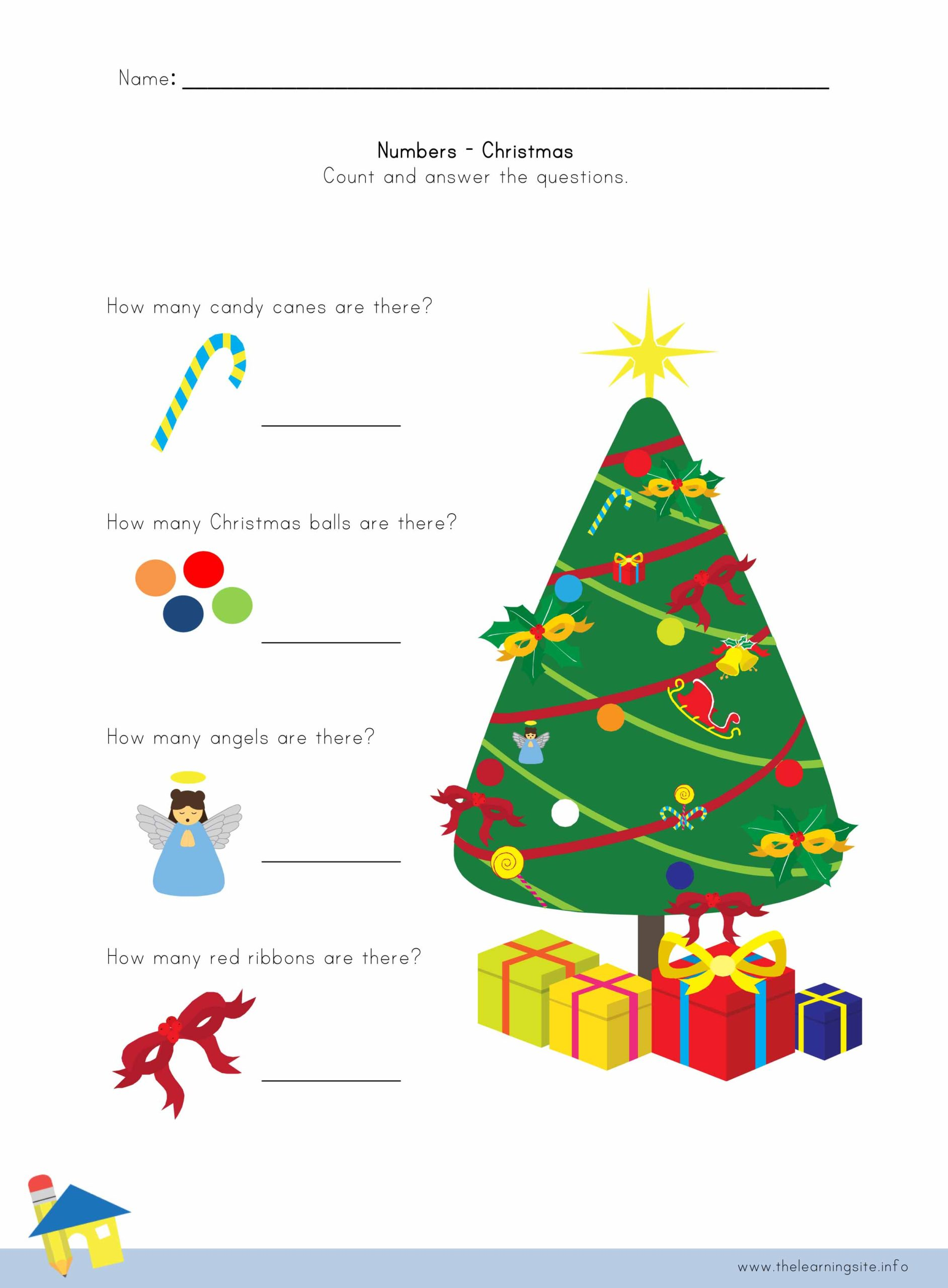Christmas Number Worksheet 4 The Learning Site