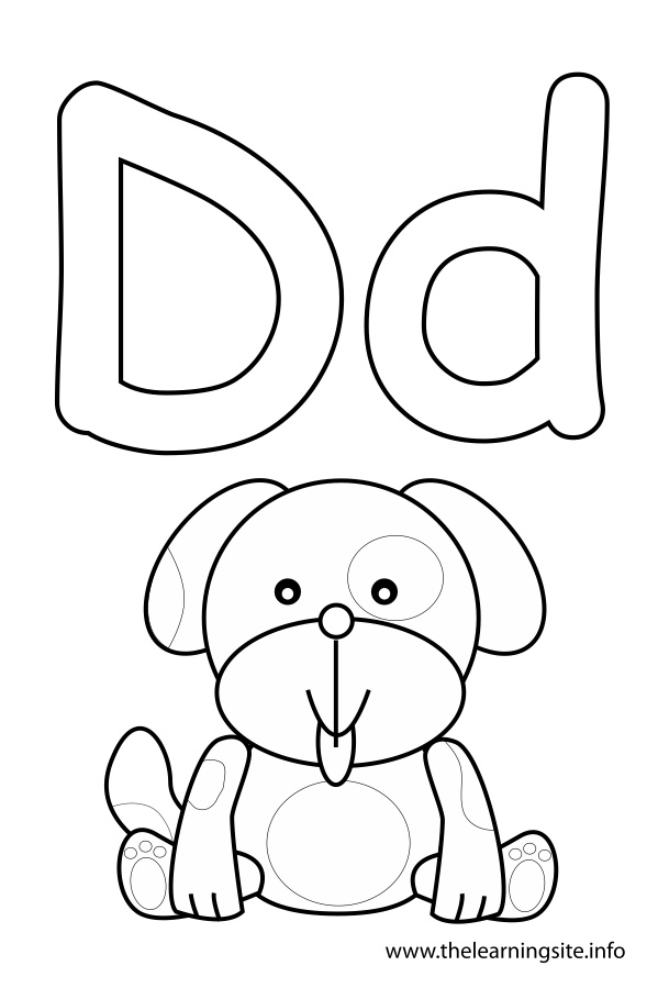 letter d dog printable letters of the alphabet color pages picture