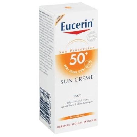 Eucerin face sun block