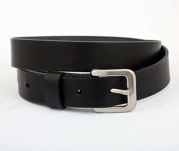 Black Leather Handmade Belt