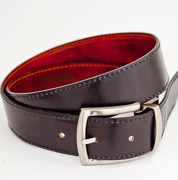 3.5cm Reversible Dark Brown Nickel Plated Belt
