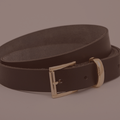 2.5cm leather belt