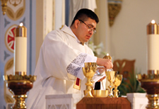 Deacon Oswaldo Sandoval was born in a remote part of El Salvador, the son of a farmer. After enduring years of war as a youth, he entered the United State in 1995 as a political refugee.  He will be ordained to the priesthood on May 26 at the Cathedral of St. Peter in Kansas City, Kan.