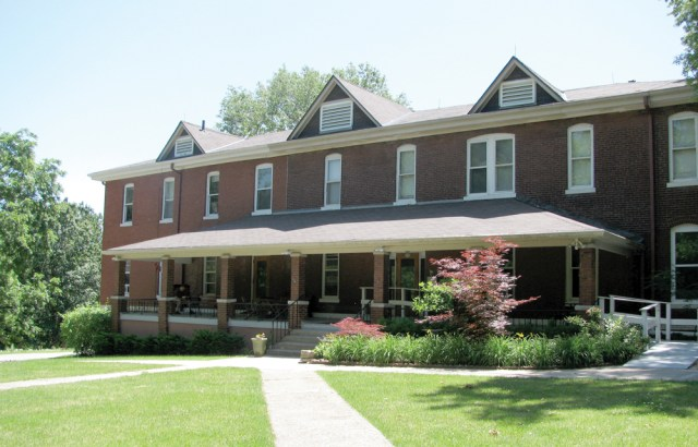 The retreat house was constructed in 1898 as a home for the mentally ill. With a front ramp and elevator, the facility is completely handicap accessible.
