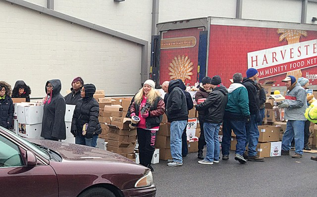 Catholic Charities teamed up with the Harvesters Community Food Network to give out 22,000 pounds of food on Nov. 15. They will be doing it again on Dec. 13 and 20.
