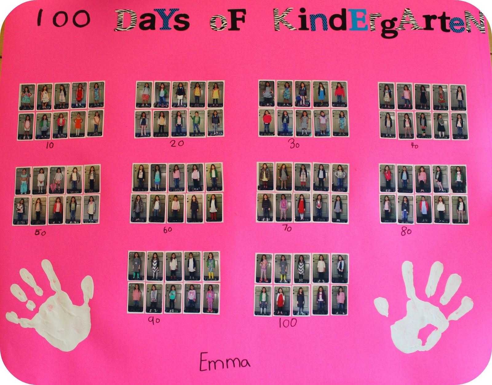 Diy School Project 100 Days Of Kindergarten Poster