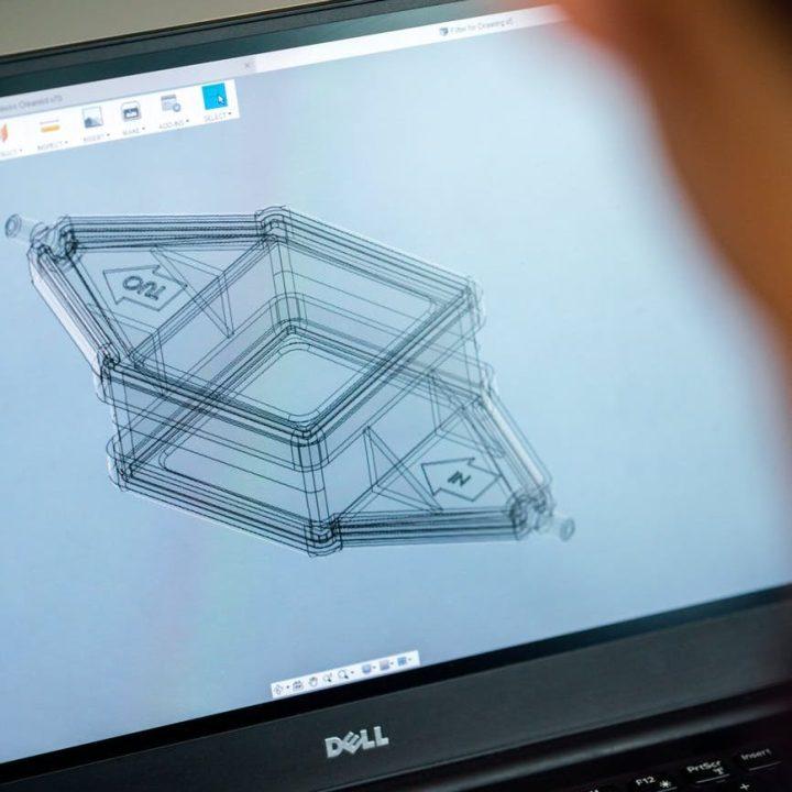 engineer designing medical equipment