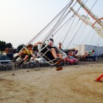 Midway swing ride