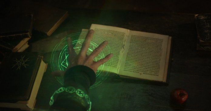 """I taught myself Sanskrit and the many ancient languages of magic, but HIPAA is, apparently, beyond me."" Photo credit to: http://www.comingsoon.net/movies/news/676135-40-screenshots-from-the-doctor-strange-teaser-trailer"
