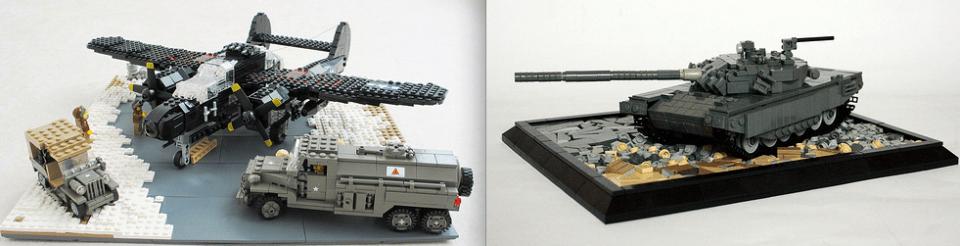 Lego P61 & T72 Tank