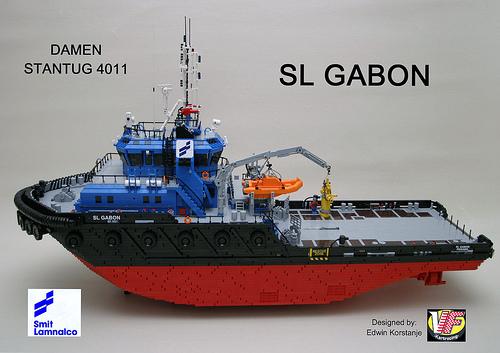Lego Ship Gabon