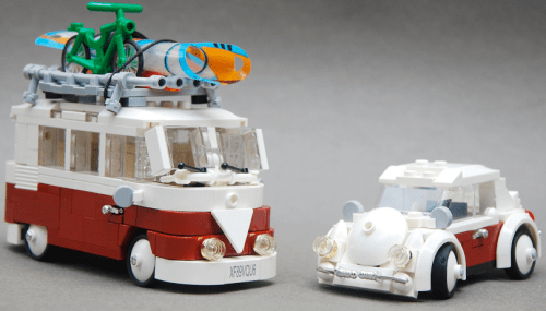 Lego Volkswagen Beetle and Camper