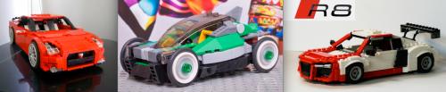 Lego Nissan GTR, Lego Car, Lego Audi R8