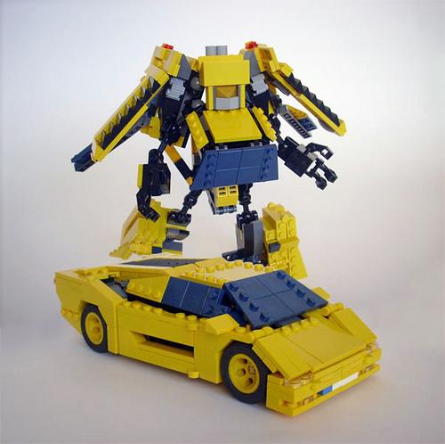 Lego Lamborghini Diablo Transformers
