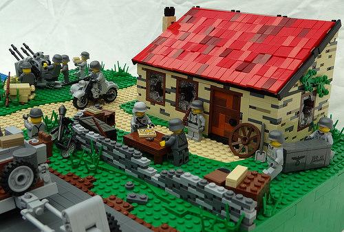 Lego World War II mini-figures