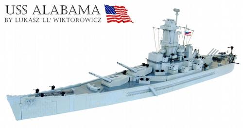 Lego USS Alabama Warship