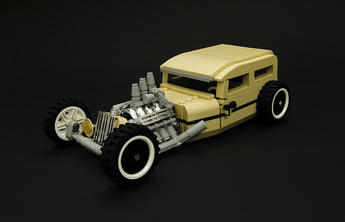Lego Gold Dust Hot Rod