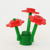 Lego Red Flower