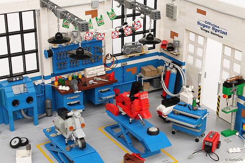 Lego Vespa Scooter Workshop
