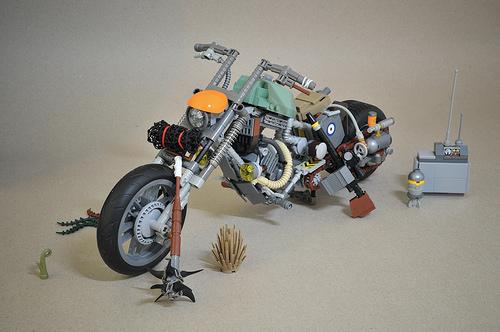 Lego Post-Apoc Motorcycle