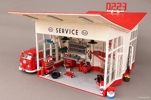 Lego Esso Garage Dudock 1953