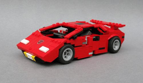 Lego Transformers Sideswipe Lamborghini Countach