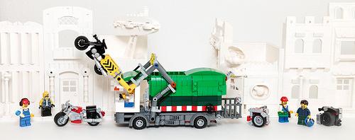 Lego Town Garbage Truck