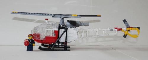 Lego Aérospatiale SA-315 Lama Air Zermatt Swiss mountain rescue service
