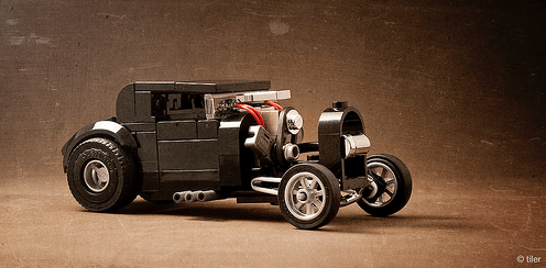 Lego Hot Rod Blown