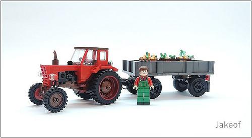 Lego MTZ-52 tractor & Autosan D-44