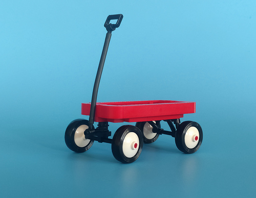 Lego Radio Flyer Wagon