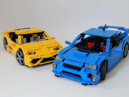 Subaru   THE LEGO CAR BLOG Lego Lamborghini vs Subaru WRX