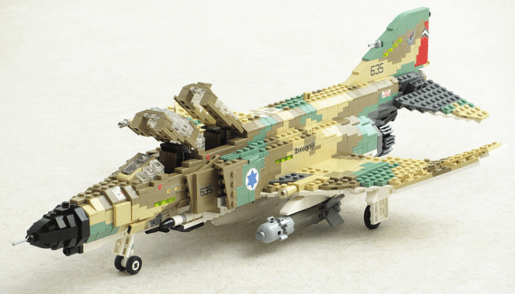 Lego F 4E Kurnass Phantom   THE LEGO CAR BLOG 740      423 in Israeli Air      Lego F 4 Phantom