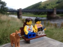 By the River Tweed at Innerleithen - say hello to our dog Jack!