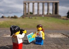 A walk to National Monument at the top of Calton Hill