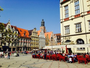 The main square in Wroclaw