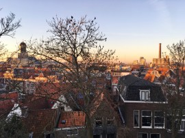 Center of Leiden panoramic view