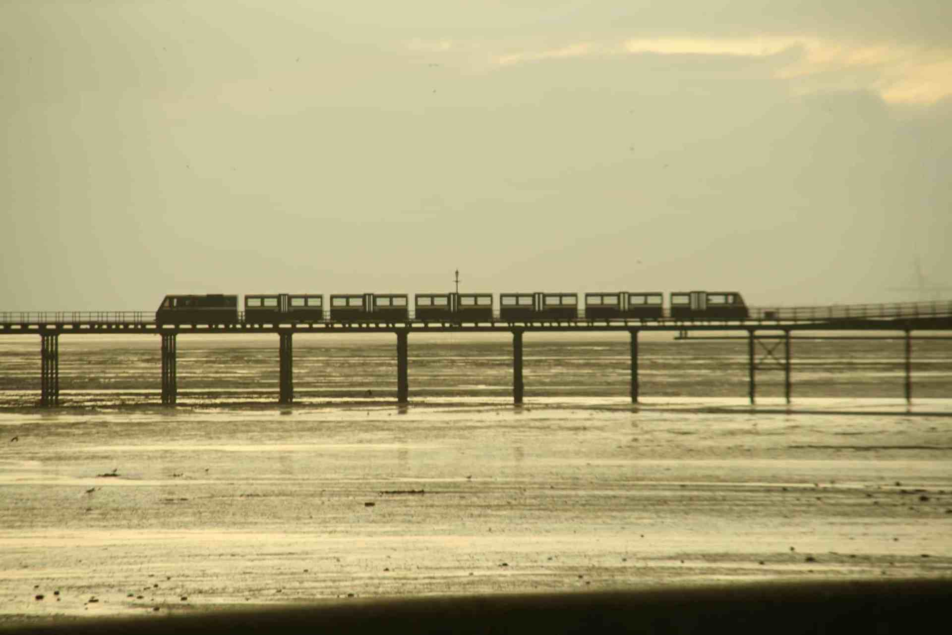 Train rides across Southend Pier, Essex