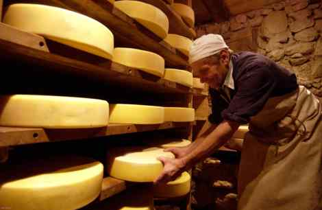 Stanglwirt farm's home produced cheeses