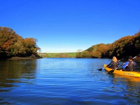Kyaking on the Helford River