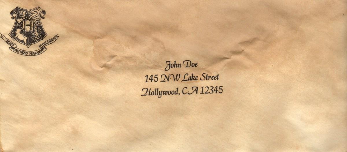 DIY Hogwarts Acceptance Letters Lemon Zest