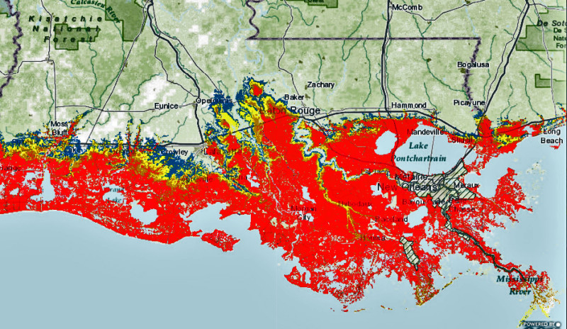 New storm-surge maps from Weather Service show worst-case models ...