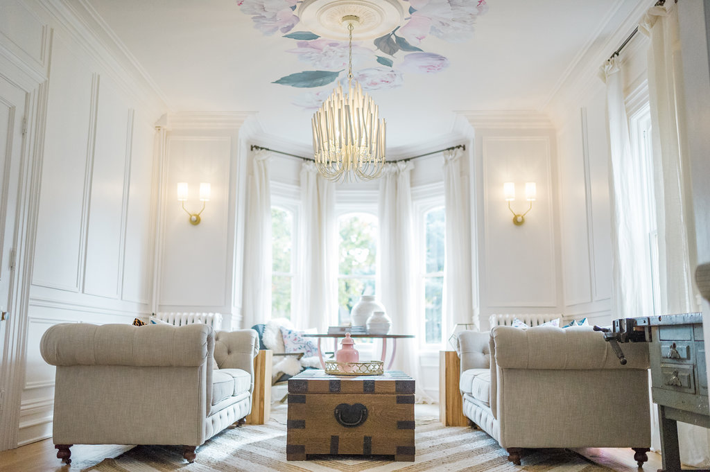 Modern Parisian Living Room Reveal Wainscoting Paint Lighting The Leslie Style
