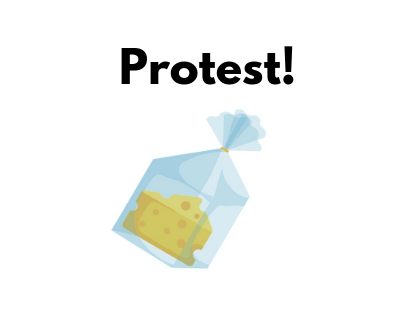 New Protest Against Excessive Grocery Packaging