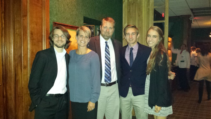 December 2014, Dinner at Ruth's Chris for Eric's graduation.
