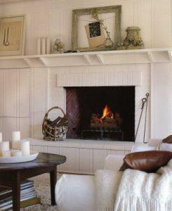 pottery barn living room fireplace