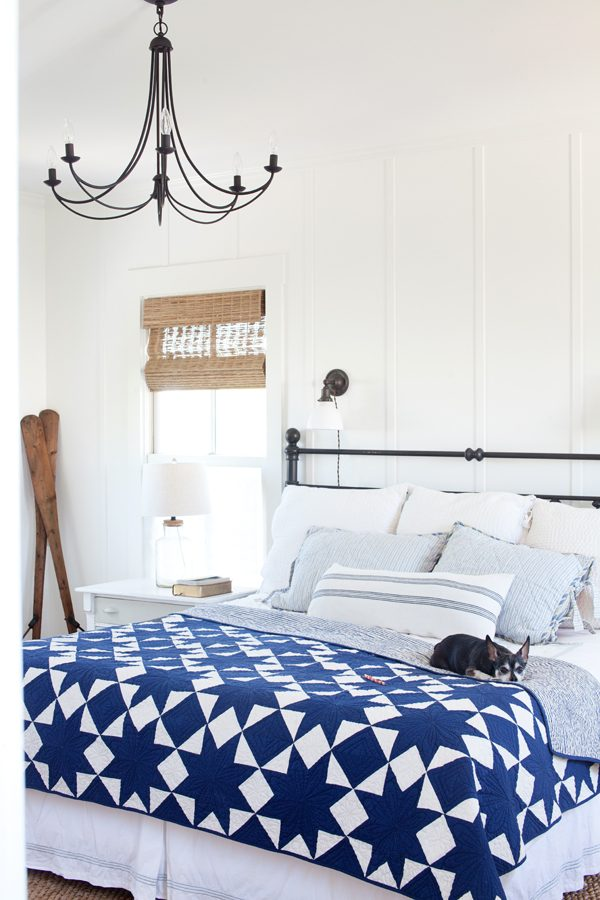 Master Bedroom Update Farmhouse Style Chandelier The