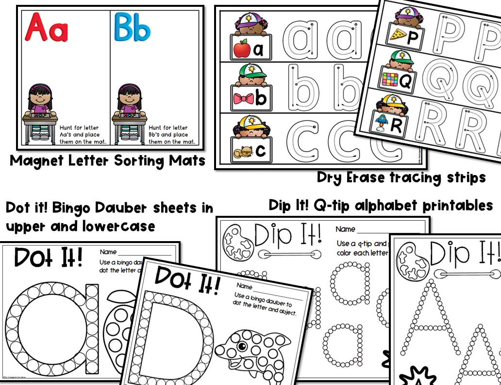 Alphabet Centers And Activities For Pre K And Kindergarten