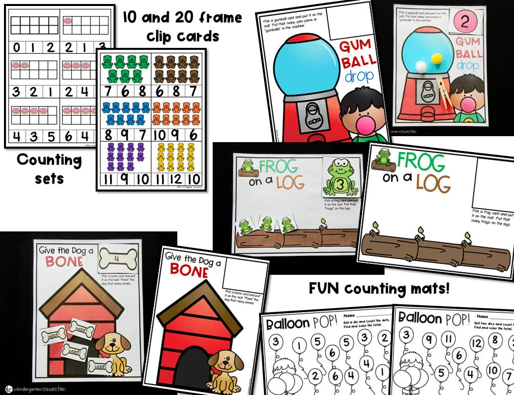 Counting Centers And Activities For Pre K And Kindergarten