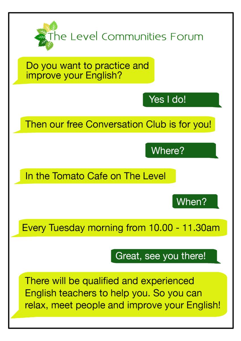 The Level Communities Forum is running a regular Conversation Club